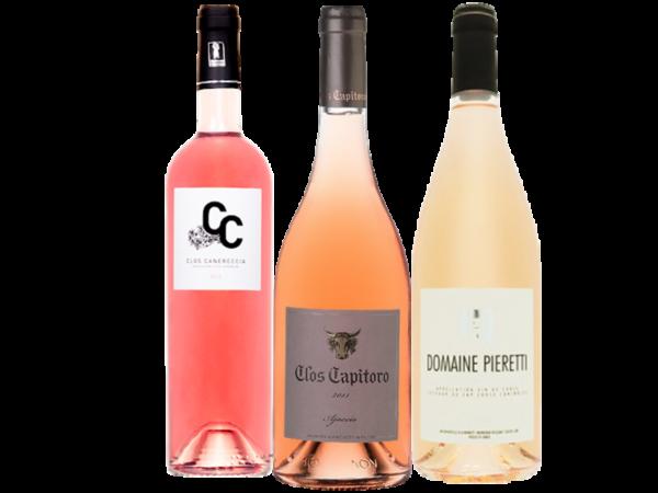 Coffret rosé vins corses - Livraison de vins de vins d'exception à domicile