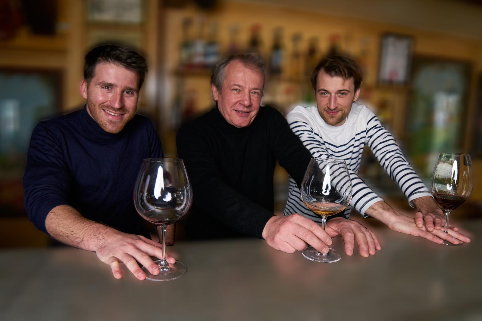 L'équipe D'or et de vins - Quentin Jamrozik, Jean-Luc Jamrozik et Michel Lannou,